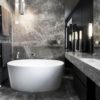 Elegant Grey Limestone Bathroom CDK Stone
