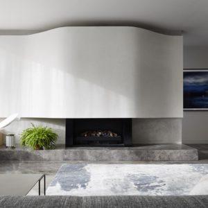 Elegant Grey Limestone Fireplace CDK Stone