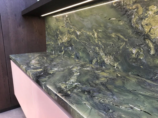 Verde Fusion Granite CDK Stone Natural Stone Kitech Bathroom Benchtop Vanity Floor Wall Indoor Outdoor Project Gallery