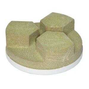 Abressa Snail Back 130mm Wet Polishing Abrasive Tri Segment Tool Equipment CDK Stone