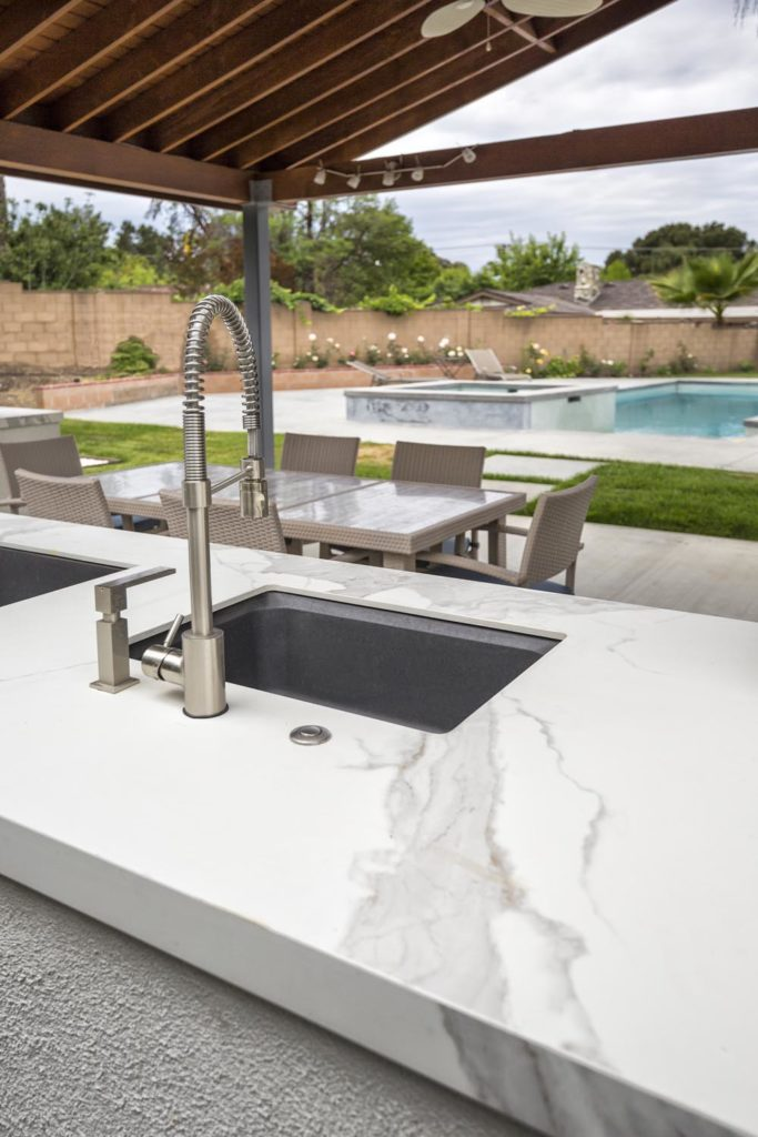 Estatuario Neolith Sintered Stone Kitchen Benchtops Bathrooms Floors Walls Vanity BBQ Indoor Outdoor CDK Stone