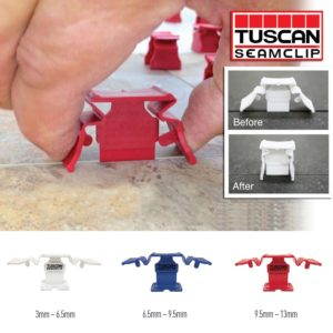 Tuscan Seamclip Guide Tiling Tiler Tools Equipment CDK Stone Installation Lippage Levelling System