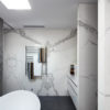 Neolith Estatuario Bookmatched Bathroom