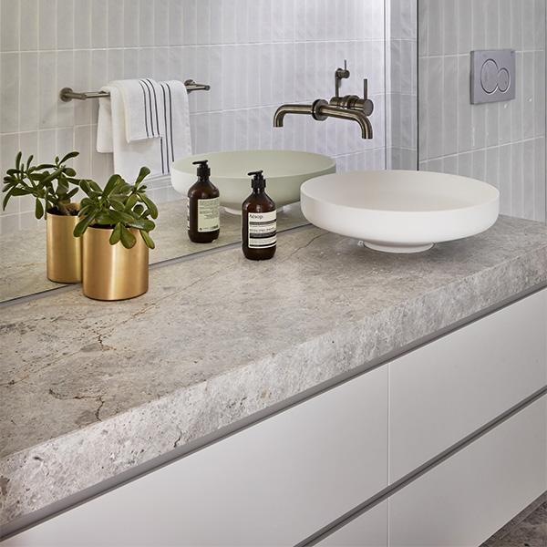 New Savior Limestone CDK Stone Natural Stone Kitech Bathroom Benchtop Vanity Floor Wall Indoor Outdoor Project Gallery