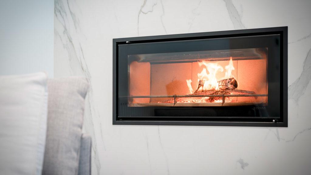 Fireplace Sintered Stone Kitchen Benchtops Bathrooms Floors Walls Vanity BBQ Indoor Outdoor CDK Stone
