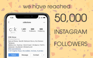 CDK Stone Instagram 50,000 Followers