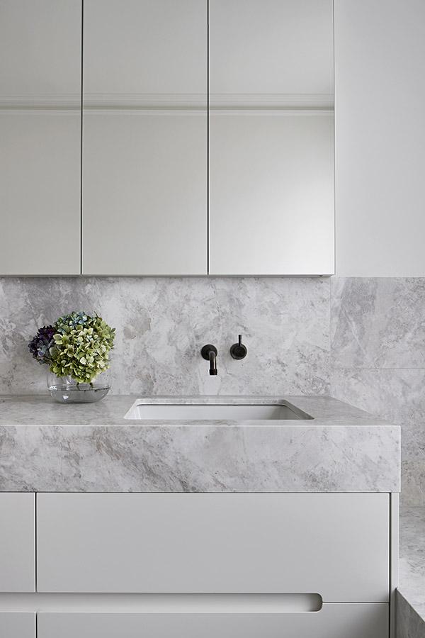 Lauren Tarrant Design CDK Stone Lorde White Calacatta Bianco Carrara Marble