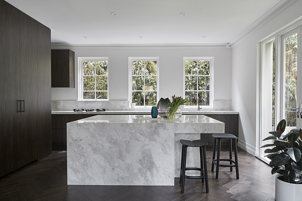 Natural Stone CDK StoneLord White Marble Kitchen