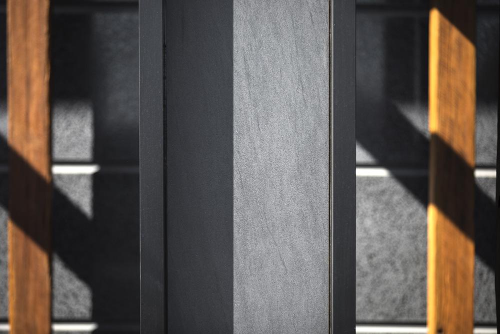 Neolith Basalt Grey Facade Sintered Stone Kitchen Benchtops Bathrooms Floors Walls Vanity BBQ Indoor Outdoor CDK Stone